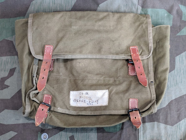 WWII German Horse Gas Mask Bag / Personal Item Bag