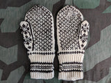 Brown and Cream Colored Mittens