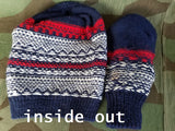 Knit Mittens and Hat Set