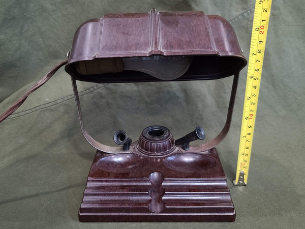 Bakelite Desk Lamp and Inkwell Working Condition