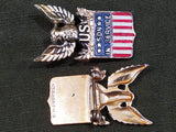 Son in Service Sterling Pin
