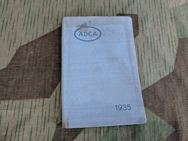 Pre-WWII German 1935 ADCA Pocket Calendar Book