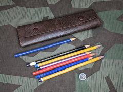 Leather Pencil Case W/ Pencils
