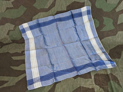 Blue and White Civilian Taschentüch Handkerchief