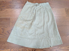 "Original WWII WAC / ANC Tan Skirt (As-Is) - 25"" Waist"