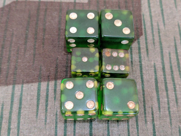 Set of Green Dice (Lucite?)