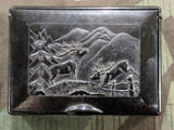 Bakelite Loose Tobacco Box with Deer Theme