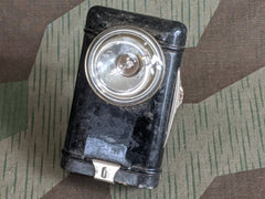 Original WWII German Flashlight w/ Wire Button Loop