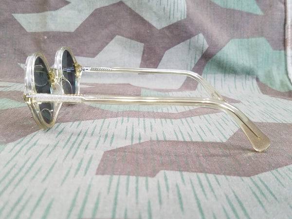 German Clear Acetate Round MG Blendschutzbrille Sunglasses