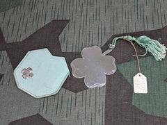 4 Leaf Clover Metal Mirror in Pouch
