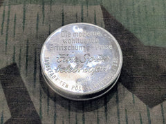 Vintage 1930s / 1940s WWII German Small Aluminum Snuff Tin