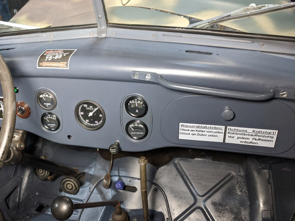 German Ford V3000s and Maultier Kaltstart Dash Decal