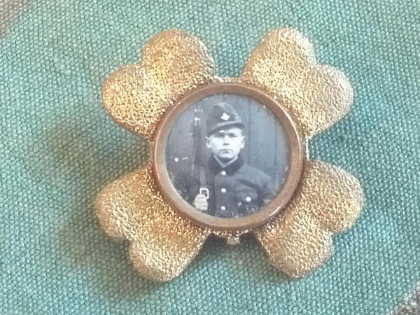 WWI German/Austrian Soldier Vintage Sweetheart Brooch Pin