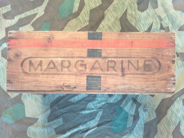WWII German 1930s Blau Band Margarine Crate Rations