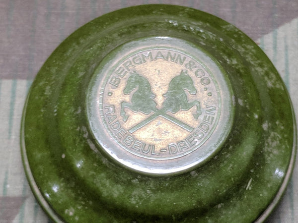 Bergmann & Co. DRGM Green Bakelite Soap/Perfume Container