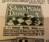 Dame Mühle Game Set (Checkers / Nine Men's Morris)