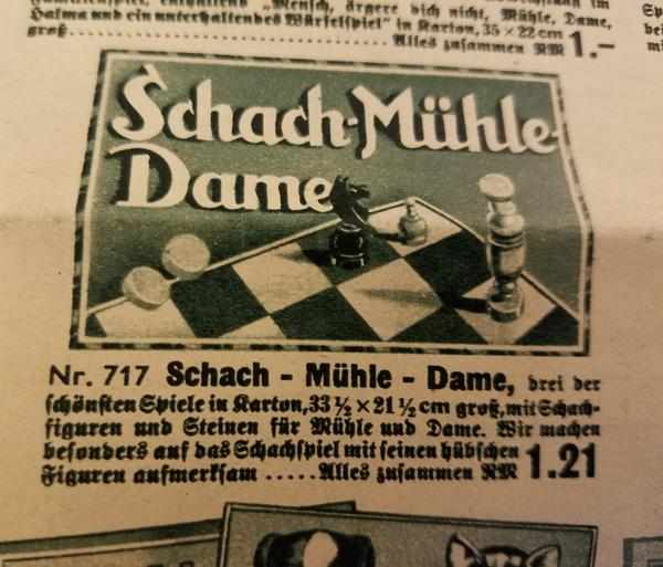 Chess Game Set Schach Mühle Dame Complete