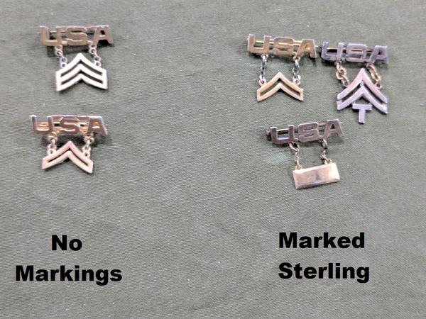US Army Rank Sweetheart Pins