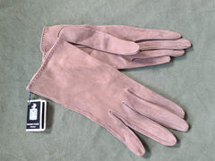 French Suede Calfskin Gloves with Original Tags (Size 6 1/2)