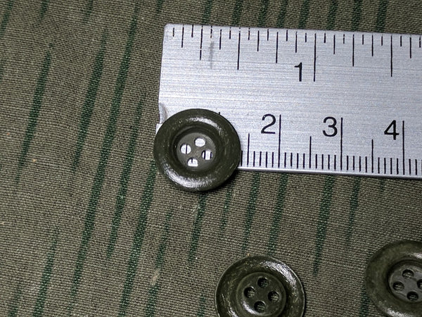 Original Feldgrau Shirt Buttons Dished Metal 14mm 4 Hole