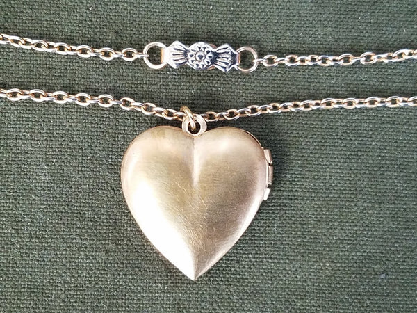 Signal Corps Sweetheart Locket Necklace