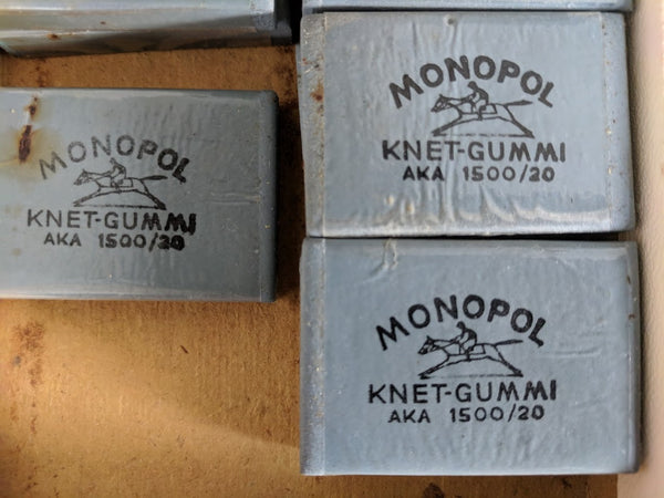 Monopol Soft Erasers for Charcoal Drawings