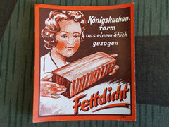 Vintage 1930s German Baking Pan Advertisement