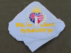 """While I am in France My Heart is with You"" Hankie"