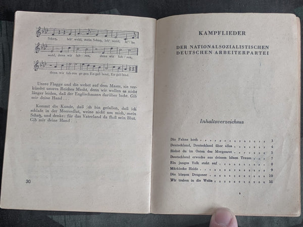 Kampflieder der NSDAP Song Book 1943