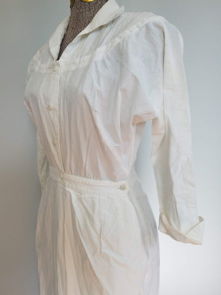 "White Nurse Uniform <br> (B-38"" W-26"" H-38"")"
