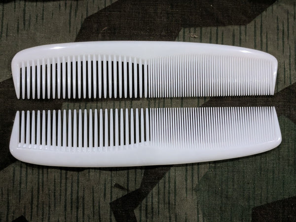 German Large White Plastic Combs