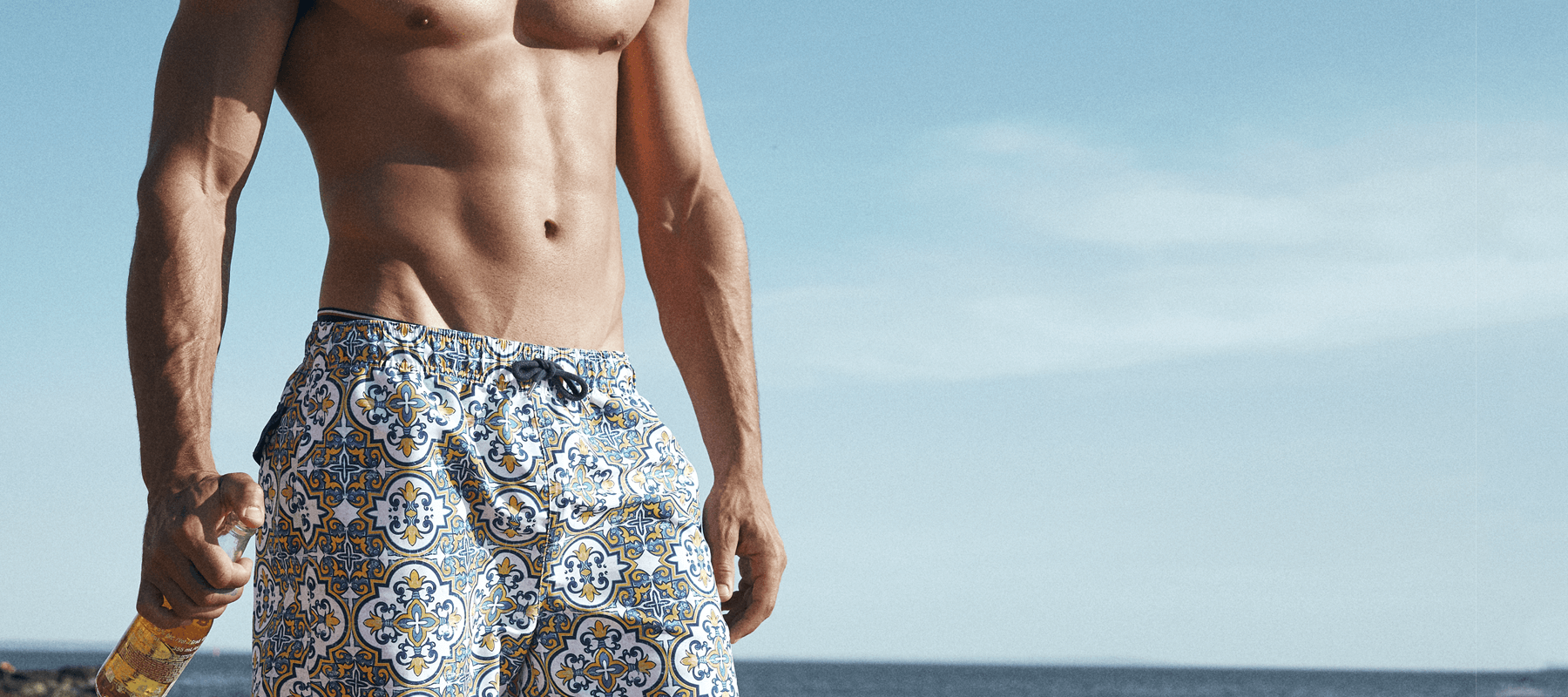 Mens swim wear by Fontainebleau high quality fabrics for men