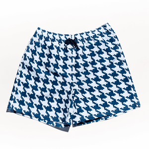 Mens swim shorts for beach Houndstooth Swimwear Short