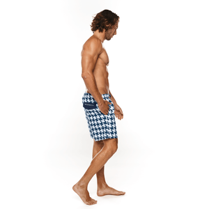 Houndstooth Swimwear Short male swim beach and pool short shorts