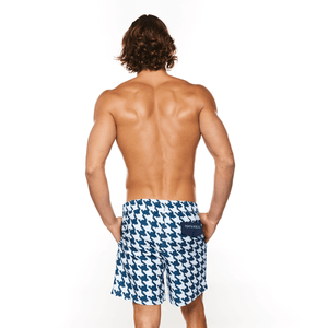 Houndstooth Swimwear Short male swim shorts
