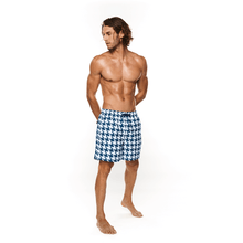 Load image into Gallery viewer, Houndstooth Swimwear Short male beach shorts