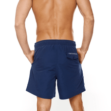 Load image into Gallery viewer, Swim Club Short – Navy back of swimwear male short