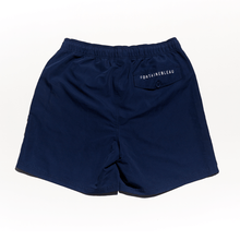 Load image into Gallery viewer, Swim Club Short – Navy board short with drawstring chlorine resistant for pool and more