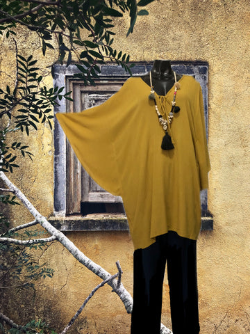 Beach top caftan cover-up rayon crinkle