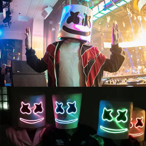 Marshmello Helmet Full Light Up Mask (ONE SIZE FITS ALL)