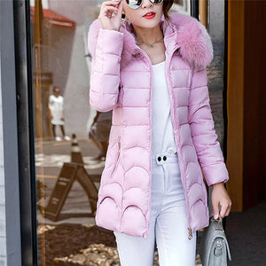 Women Hooded Long  Warm Coat Outwear