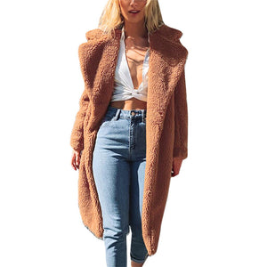 Fashion Teddy Bear Women Winter Suede Coat