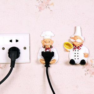 Exclusive Cute Self Adhesive Wall Plug Holder™