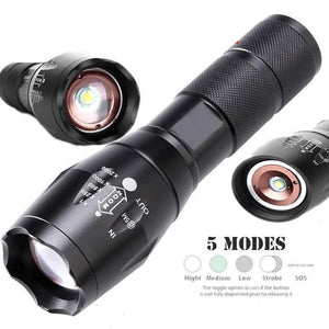 5 Modes Tactical Led Waterproof Flashlight 4000 Lumens Military Grade