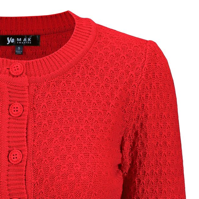 Angela Vintage Cardigan - Red