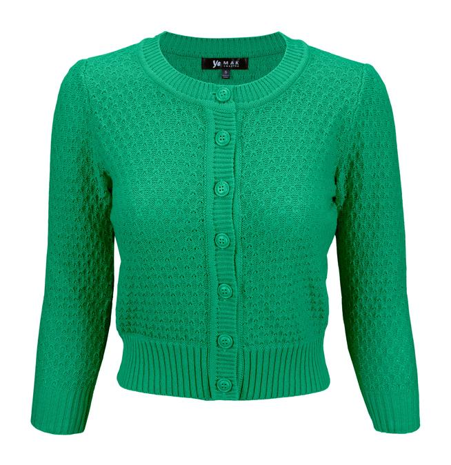 Angela Vintage Cardigan - Kelly Green