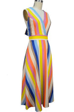 Bella Sun Dress - Multi Stripe