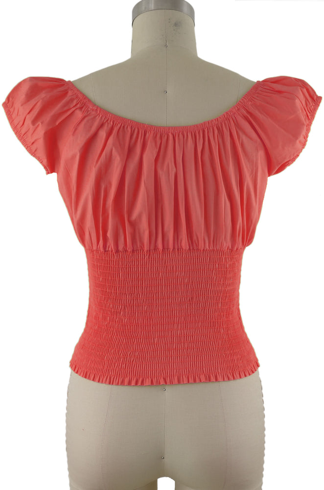 Daisy Peasant Top - Solid Lt. Pink