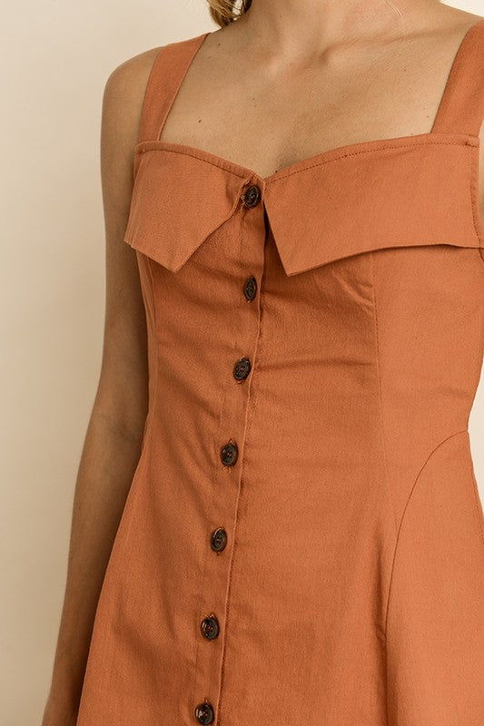 Darcy Sun Dress - Rust