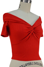 Delilah Twist Bust Top - Red
